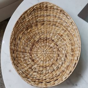 Large oval woven low basket